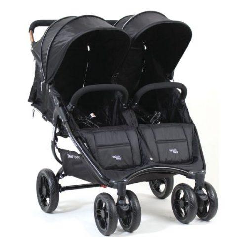 Lekki  9,8 kg wózek bliźniaczy spacerowy jeden obok drugiego Snap Duo Valco Baby + fotelik 0-13 kg