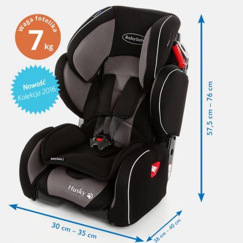 Fotelik samochodowy 9-36 kg Husky BabySafe