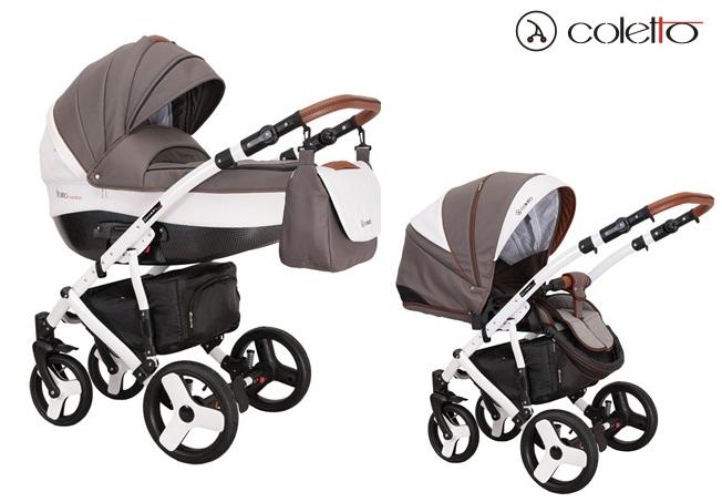 Wózek głęboko spacerowy Florino Carbon Eco 2w1, Coletto