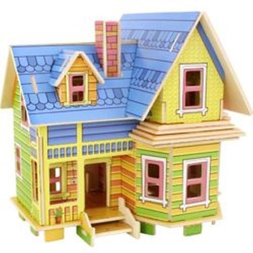 Smily Play zabawka  drewniany dom do złożenia