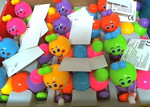 Zabawka dla maluchów dżdżownica nakręcana 10 cm