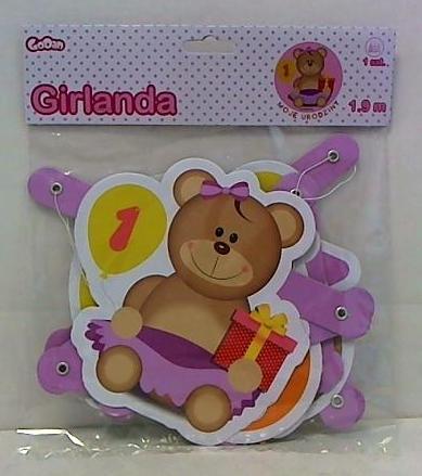 Girlanda moje 1 urodziny różowa