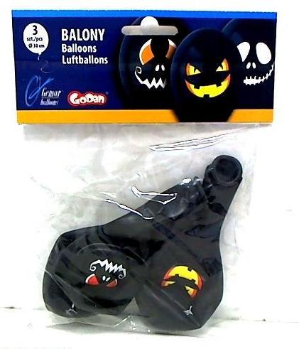 Balony urodzinowe premium halloween twarze 1