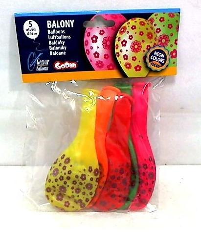Balony urodzinowe premium kwiatuszki 5szt