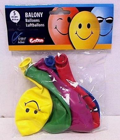 Balony urodzinowe premium 3 uśmiechy 5szt