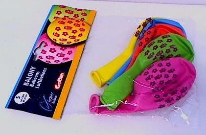 Balony urodzinowe premium misie i kwiaty 5szt