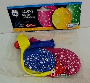 Balony urodzinowe premium gwiazdki 5szt