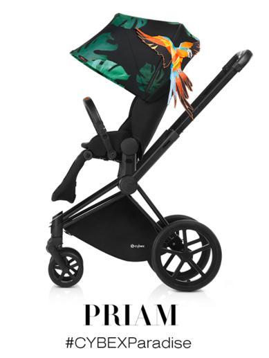Siedzisko wózka spacerowego Priam kolekcja Brids of Paradise Cybex