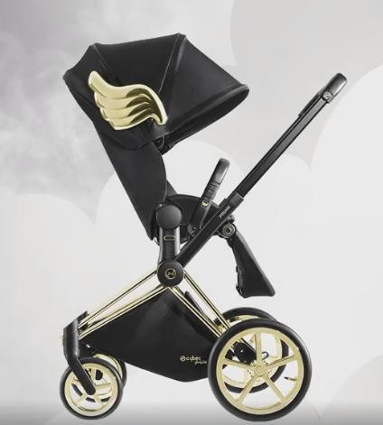 Wózek spacerowy Priam z siedziskiem Lux koła Trekkingowe Cybex kolekcja Wings by Jeremy Scott