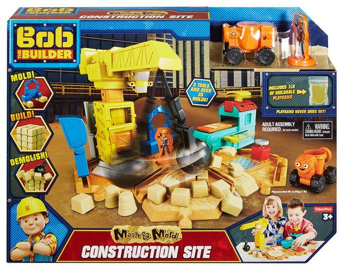 Bob Budowniczy Zestaw Plac Budowy z kinetycznym piaskiem - Fisher Price
