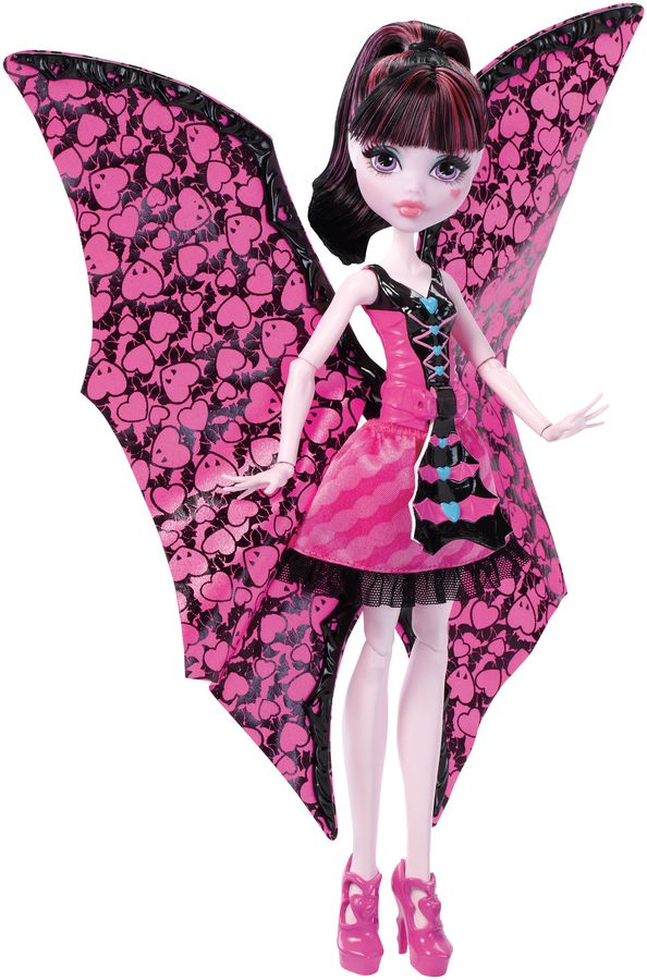 Monster High Dlaculaura wampiskrzydła 2w1 DNX65