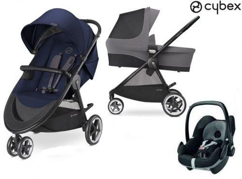 3w1 głęboko spacerowy wózek dziecięcy Cybex Agis M-Air3 - wersja 3-kołowa + fotelik samochcodowy 0-13 kg opcja baza isofix