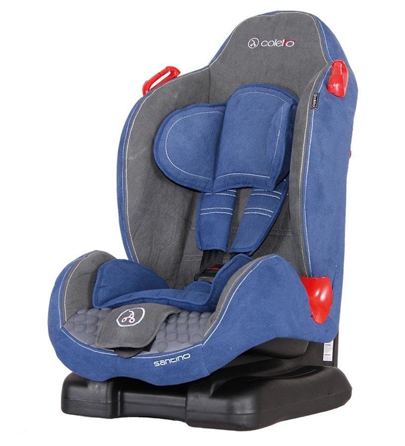 Wygodny fotelik samochodowy 9-25 kg Santino Coletto z regulowanym oparciem i piankowym wypełnieniem