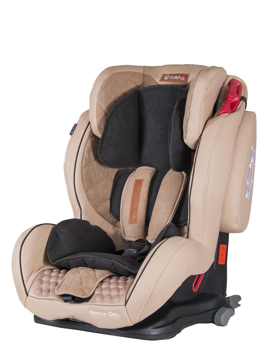 Elegancki i bezpieczny fotelik Sportivo Only Isofix 9-36 kg Coletto ze skóry ekologicznej