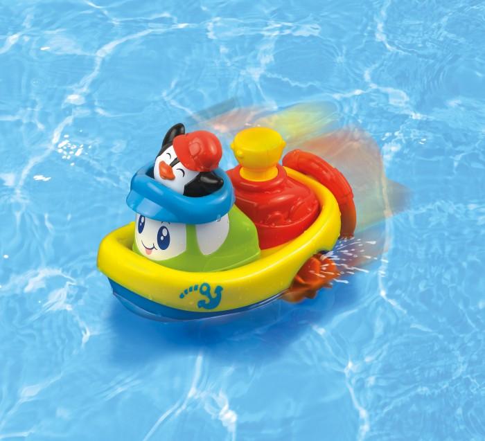 Dumel Nakręcona Łódka pływam i jeżdże mix wzorów