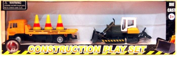 Anek Zestaw aut budowlanych: ciężarówka i spychacz