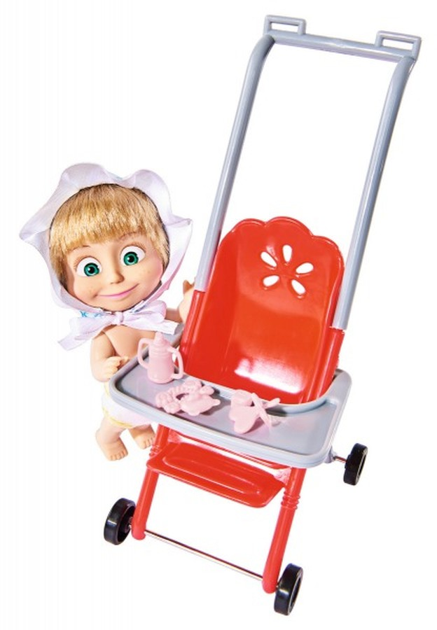 Masza w stroju dziecka z akcesoriami