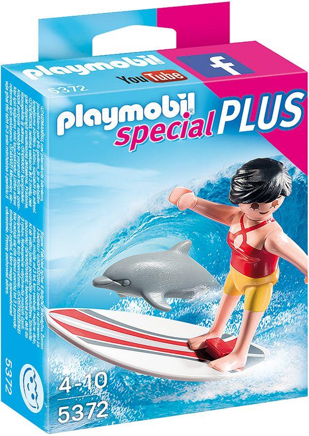 Playmobil Dziewczynka serfująca z delfinami