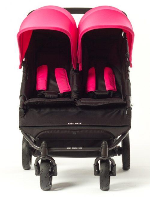 Wózek bliźniaczy sopacerowy jeden obok drugiego Easy Twin Baby Monsters