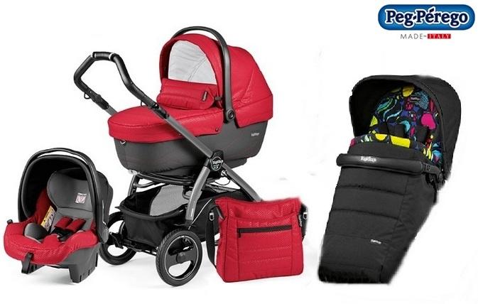 Wózek 3w1 Book Plus + siedzisko + gondola Navetta XL, Elite, Pop-Up + fotelik samochodowy 0-13 + torba pielęgnacyjna, Peg Perego