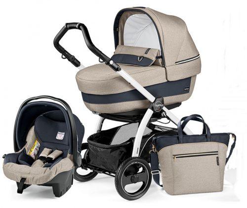 Wózek 3w1 stelaż Book 51S + siedzisko + gondola Navetta XL, Elite, Pop-Up + fotelik samochodowy 0-13 + torba pielęgnacyjna szerokosc wózka 51 cm, Peg Perego