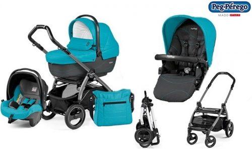 Wózek 3w1 stelaż Book S + siedzisko + gondola Navetta XL, Elite, Pop-Up + fotelik samochodowy 0-13 + torba pielęgnacyjna, Peg Perego