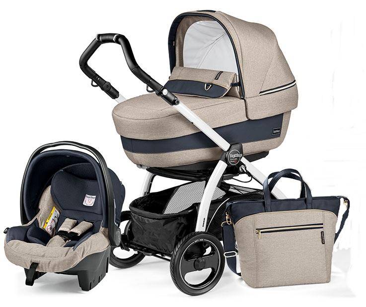 Wózek 4w1 Book Plus Navetta XL, Elite, Pop-Up + siedzisko + fotelik samochodowy 0-13 + torba pielęgnacyjna + baza do fotelika, Peg Perego