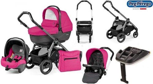 Wózek 4w1 Book S Navetta XL, Elite, Pop-Up + siedzisko spacerowe Completo lub Sportivo + fotelik samochodowy 0-13 + stelaż wózka Book S torba pielęgnacyjna + baza do fotelika, Peg Perego