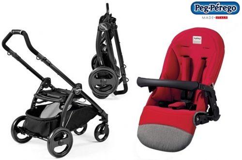 Wózek spacerowy Book Plus z siedziskiem spacerowym Completto lub sportivo, Peg Perego