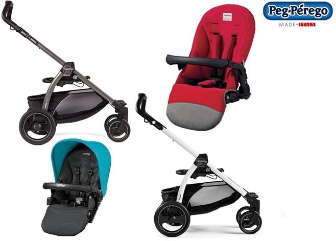 Lekki wózek spacerowy Book S z siedziskiem spacerowym Completto lub sportivo , Peg Perego