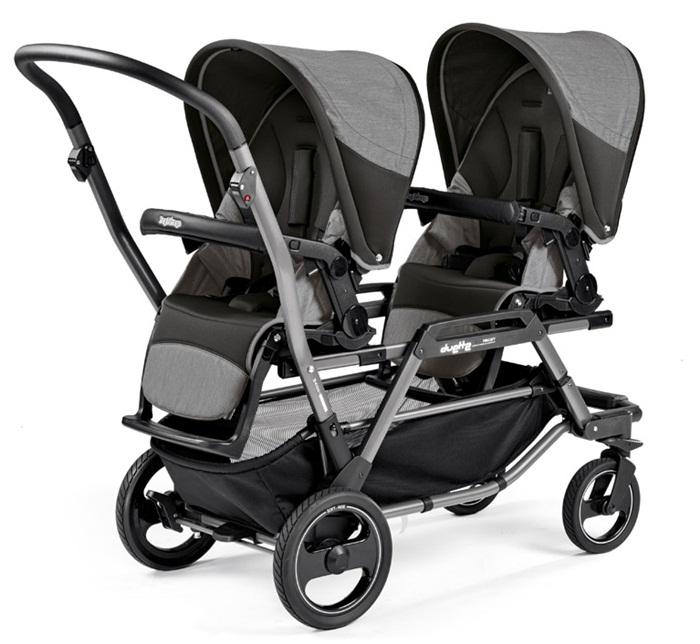 Wózek spacerowy dla bliźniąt lub rodzieństwa  Duette Piroet + 2 siedziska Completto lub Sportivo, Peg Perego