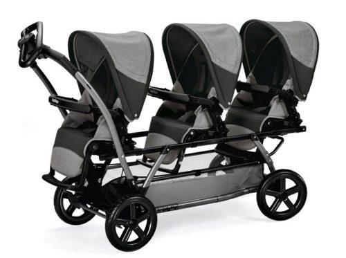 Wózek spacerowy dla trojaczków Triplette Piroet rama + 3 siedziska, Peg Perego