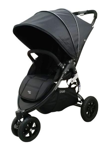 Wózek spacerowy trójkołowy Snap 3 vs sport - czarny, Valco Baby pompowane koła