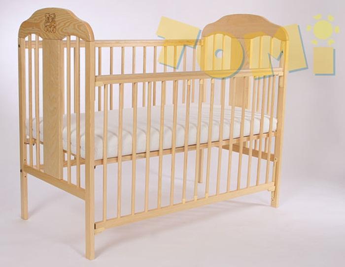 Piękne łóżeczko z drewna sosnowego w 5 kolorach Tomi X z opuszczanym bokiem