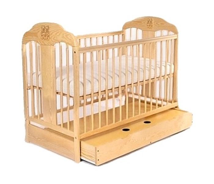 Łóżeczko Tomi X drewniane łóżeczko z szufladą