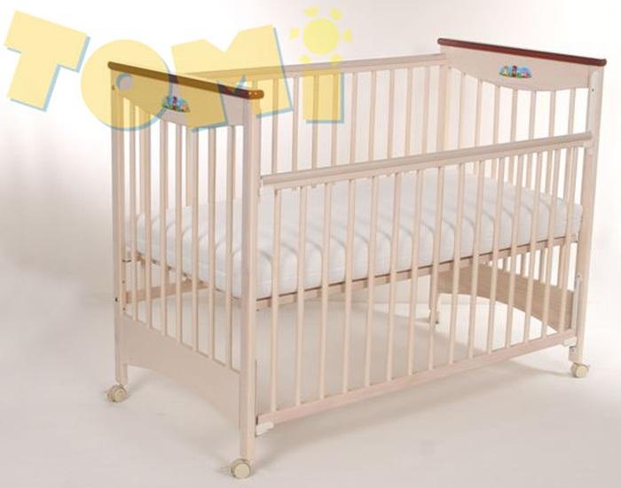 Łóżeczko dziecięce 120x60 cm z opuszczanym bokiem Tomi XI