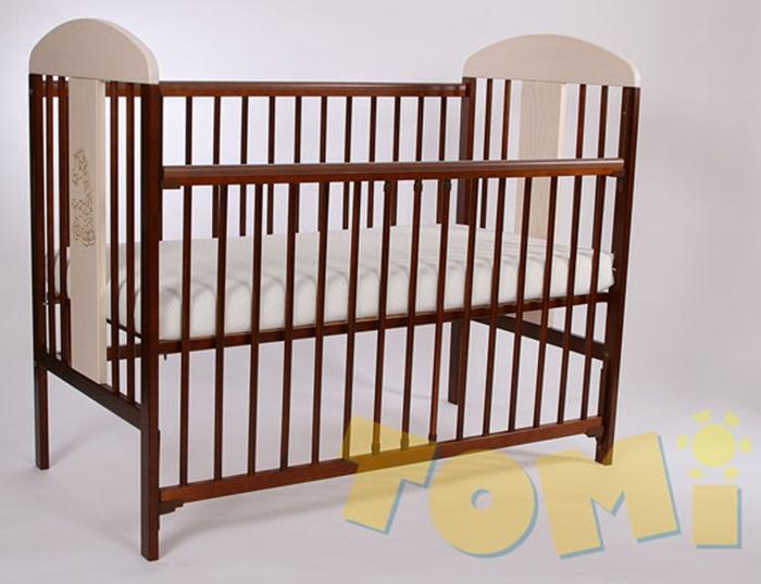 Solidne łóżeczko dziecięce z drewna sosnowego Tomi XII 120x60