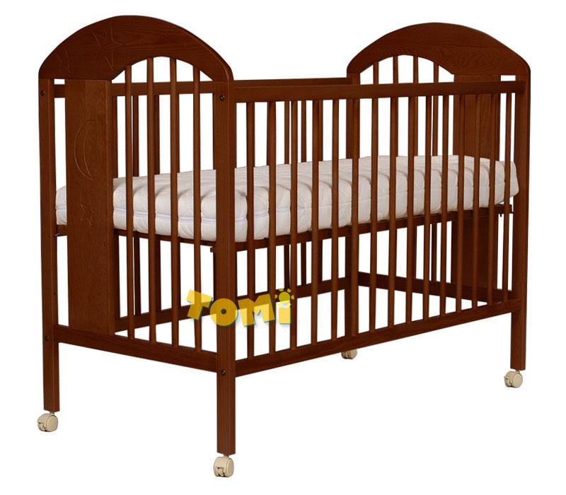 Zdobione łóżeczko z drewna sosnowego Tomi XIII