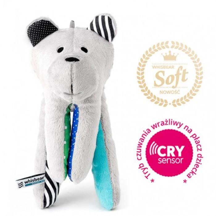 Whisbear Soft szumiącu puchaty miś z funkcją CRY - turkusowy