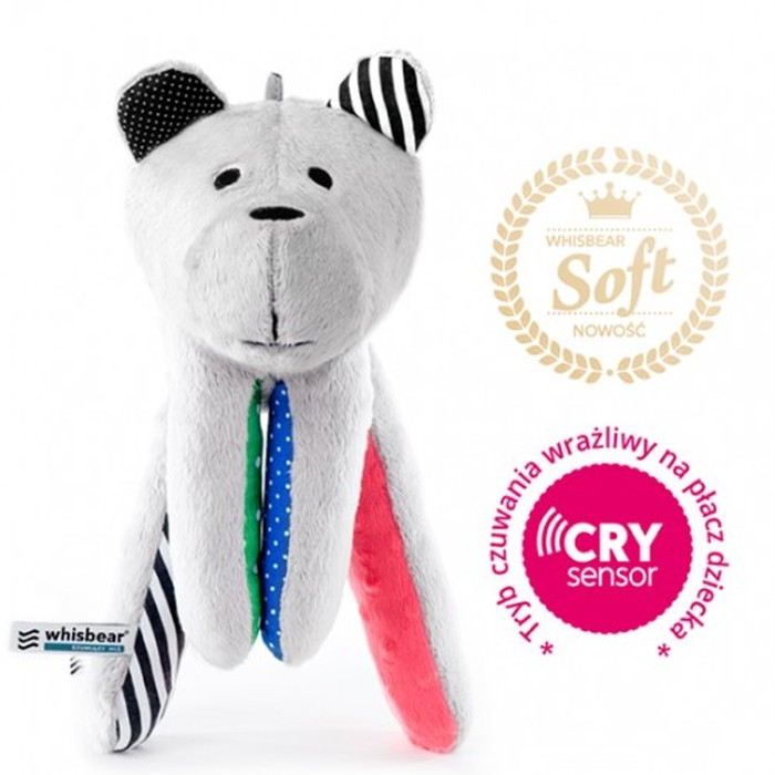 Whisbear Soft szumiącu puchaty miś z funkcją CRY - arbuz