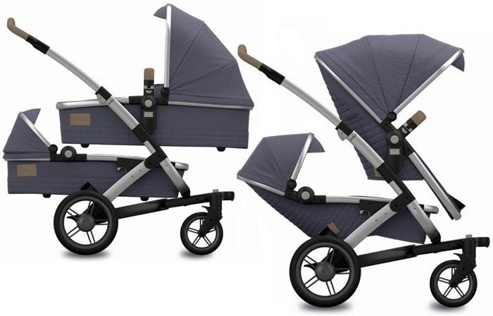 Joolz wózek 2w1 bliźniaczy Geo Twin kolkecja Quadro rama 2 x gondola 2x spacerówka