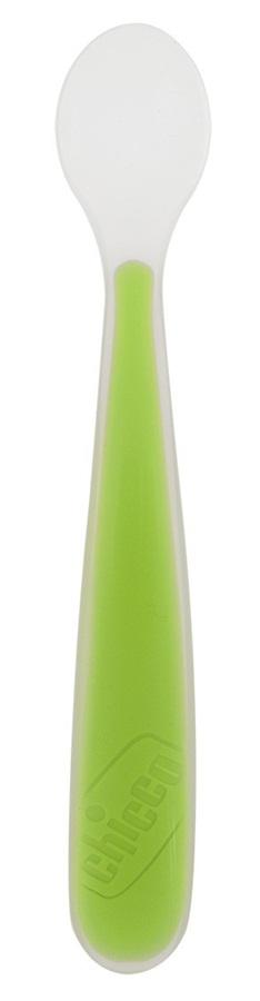 Miękka łyżeczka silikonowa Chicco 6m+ zielona