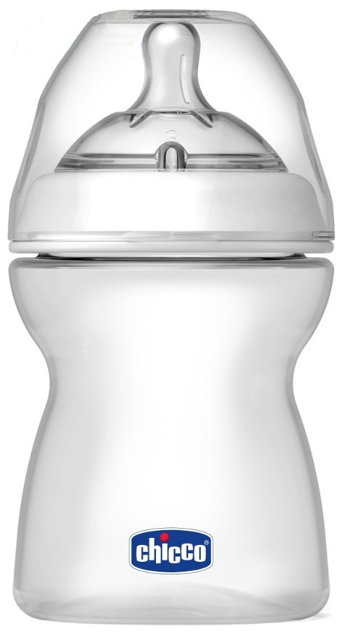 Plastikowa butelka do karmienia Chicco Step Up New 250 ml - smoczek silikonowy trójprzepływowy