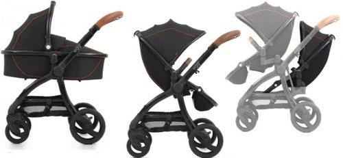 Wózek dla rodzeństwa - gondola głęboka + wózek spacerowy + 2 siedziska spacerowe + adaptery do montażu siedzisk - Baby Style Egg