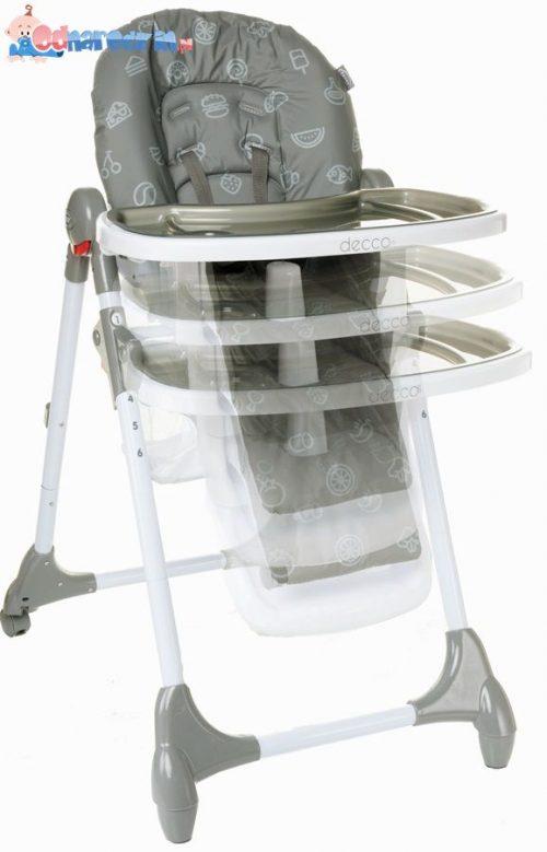 Krzesełko do karmienia Decco regulowana wysokosć, 4 Baby