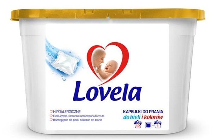 Kapusłki uniwersalne do prania Lovela, 12 sztuk