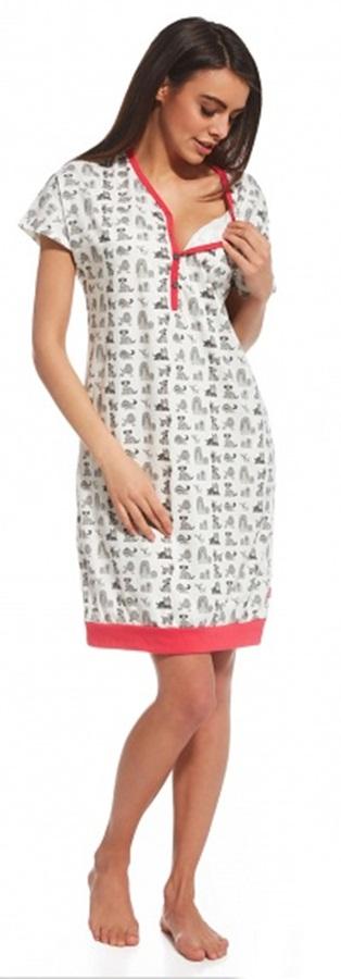 """Koszula nocna dla matek karmiących i ciężarnych """"Let`s Go 3"""" , Cornette"""