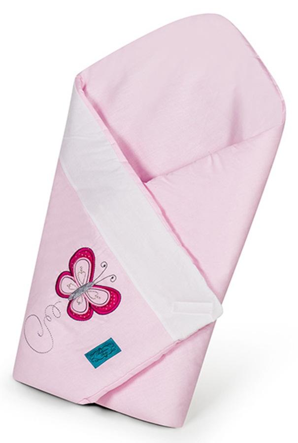 Rożek, becik niemowlęcy różowy Motylkowy Obraz Belisima