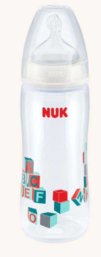 Butelka First Choise + 360 ml z tworzywa PP ze smoczkiem silokonowym rozmiar 6-18 mc , XL (do kaszek)