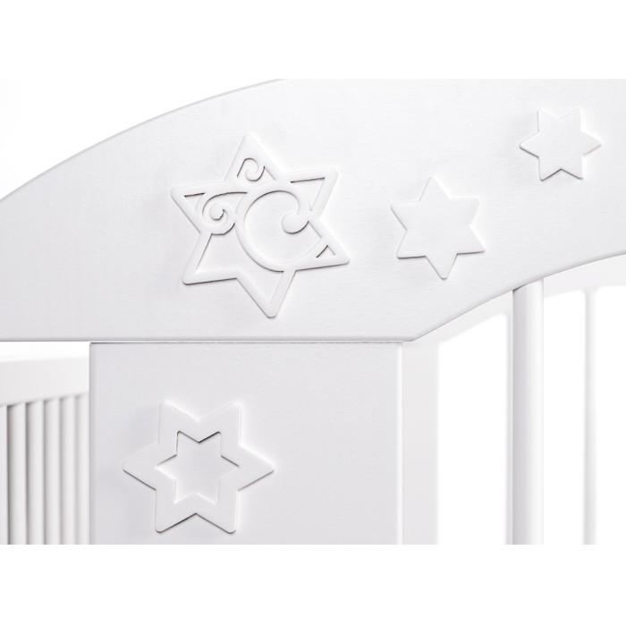 Łóżeczko 120x60 Radek VII Klupś z regulowaną wysokością podłogi - białe